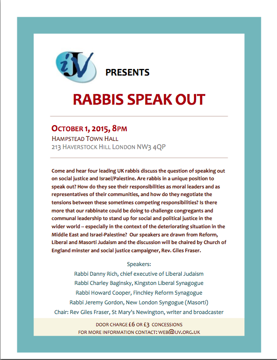 Rabbis speak out